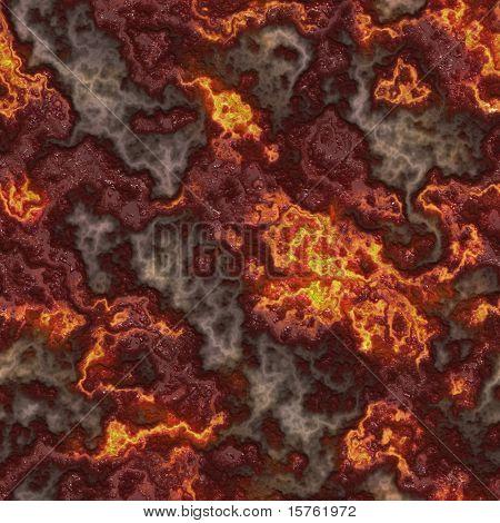 Sealmess Lava Pattern as Glowing Magma Veins
