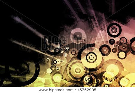 Music Inspired DJ as Abstract Colored Background