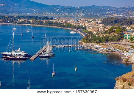 Marina With Yachts, Corfu City