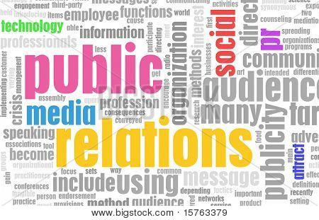 Public Relations PR Concept as a Abstract