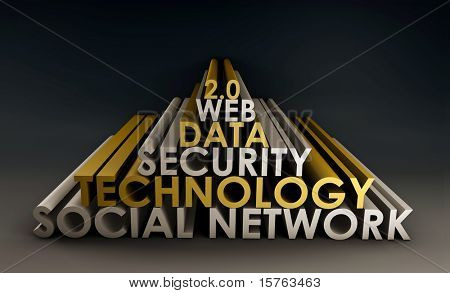 Social Networking Online Website 3d Tech Art