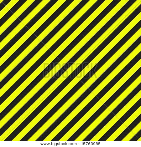 Seamless Warning Pattern Clean in Black Yellow