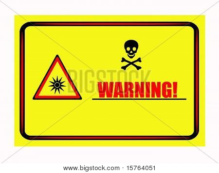Optical radiation sign warning table