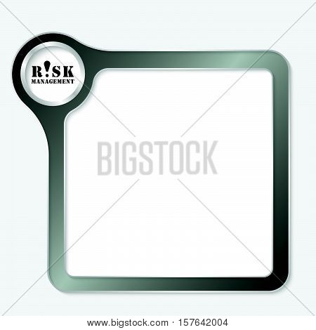 Vector black box for your text and risk management icon