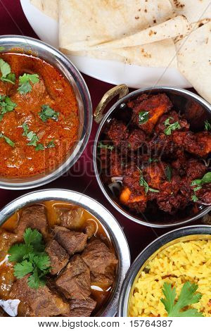 Indian Curries From Above