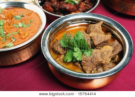 Beef Korma Curry In Bowl