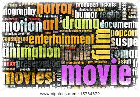 Poster do filme de fundo Vintage de gêneros de filme