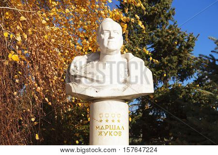 Bust Of The Marshal Zhukov