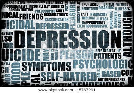 Severe Depression Medical Mental State Background