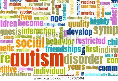 Autism Concept as a Medical Condition Background