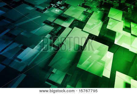 Futuristic Abstract as a Technology Background Art
