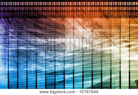 A Data Network Internet Tech Abstract Art