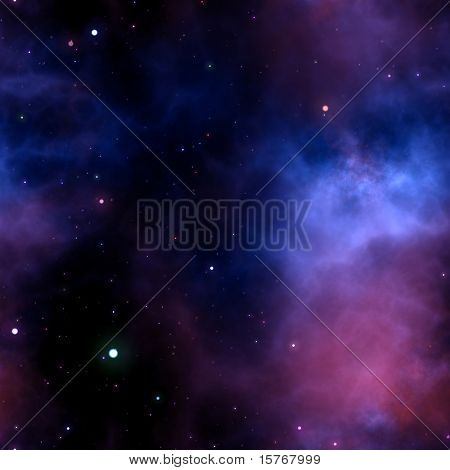 Nahtlose Galaxy Hintergrund mit Sternen und Wolken