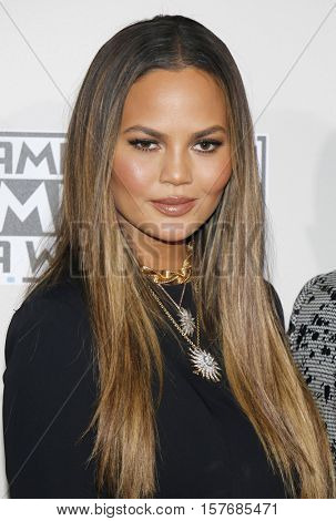 Chrissy Teigen at the 2016 American Music Awards held at the Microsoft Theater in Los Angeles, USA on November 20, 2016.