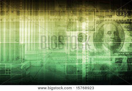Regierung und Wirtschaft auf monetäre Gesetzen abstrakt
