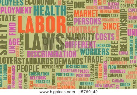 Leis trabalhistas no local de trabalho como conceito