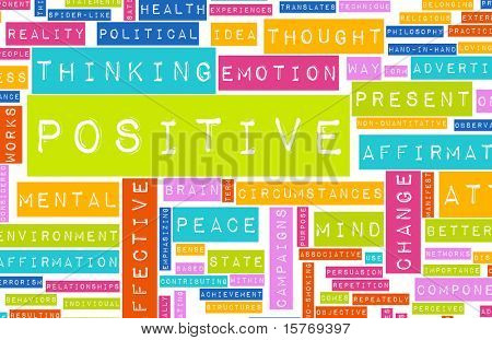 Thinking Positive as an Attitude Abstract Concept