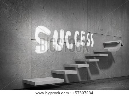 Ladder of success and achievement . Mixed media