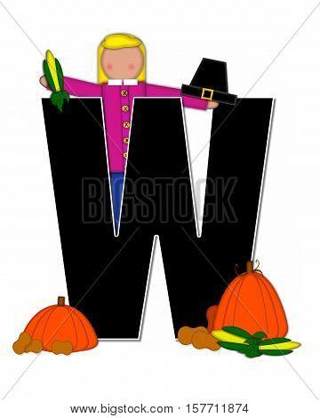 Alphabet Children Thanksgiving W