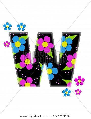 Alphabet Flower Topia W