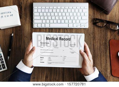 Medical Report Record Form History Patient Concept