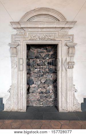 Doorway Blocked With Lava Stone