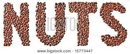 Inlaid Nuts Of Siberian Cedar Nuts Word