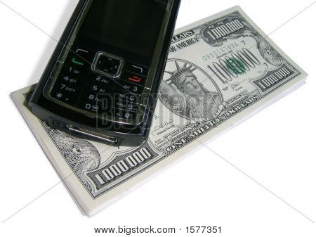 One Million Dollars And Mobile Phone