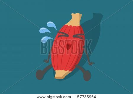 vector cartoon human muscle be tired.Muscle weakness up to hard use.Used Description muscle. Or exercise fitness