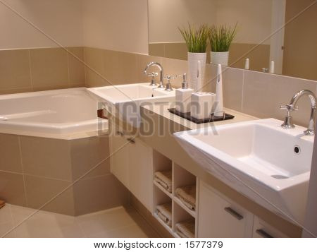 Bathroom With Corner Spa