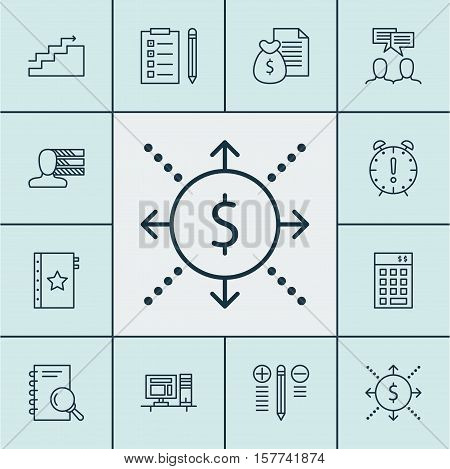Set Of Project Management Icons On Discussion, Growth And Decision Making Topics. Editable Vector Il