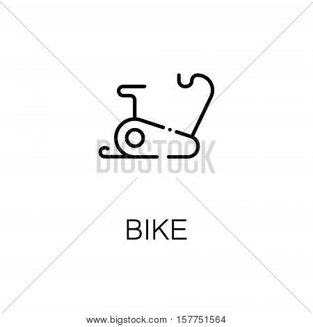 Bike flat icon. Single high quality outline symbol of fitness for web design or mobile app. Thin line signs of bike for design logo, visit card, etc. Outline pictogram of fetness equipment