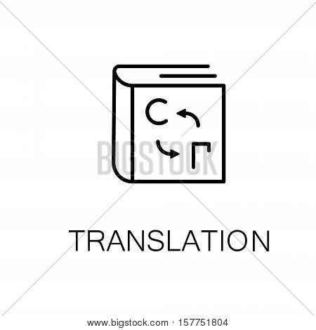 Book flat icon. Single high quality outline symbol of book for web design or mobile app. Thin line signs of book for design logo, visit card, etc. Outline pictogram of book