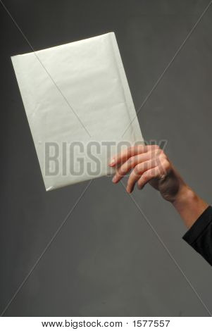 Hand With An Envelope