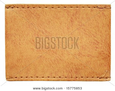 Blank jeans label isolated on white background