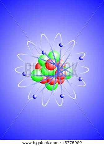 A vector illustration of a nitrogen atom