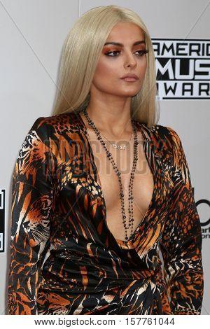 LOS ANGELES - NOV 20:  Bebe Rexha at the 2016 American Music Awards at Microsoft Theater on November 20, 2016 in Los Angeles, CA