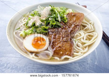 Ramen Fish Teriyaki Soup in Bowl