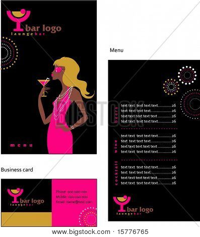A cocktail and bar menu template, vector file include