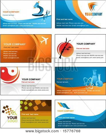 Business Card Template Design Vektor-Datei