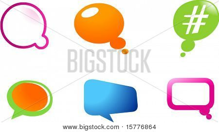 collection of logo and icons of balloons web2.0 , vector file