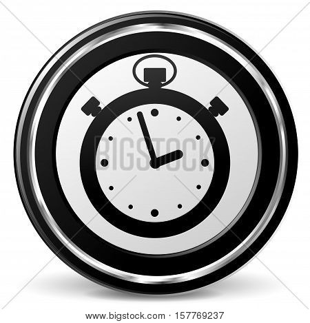 Illustration of stopwatch black and gray icon
