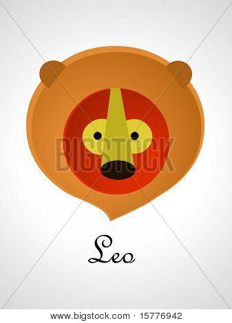 Los signos del zodiaco / icons - leo