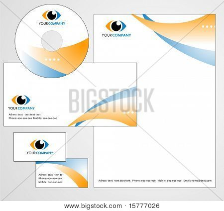Letterhead Template design - vector file
