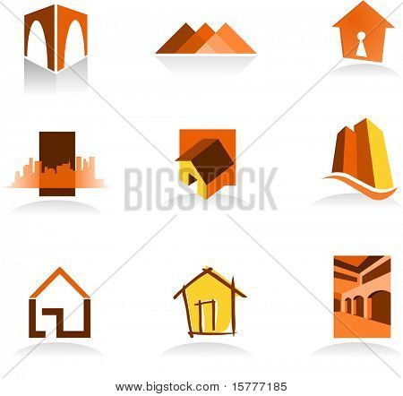 Collection of real estate icons - for more logos of this type CLICK ON MY NAME BELOW TO SEE MY GALLERY