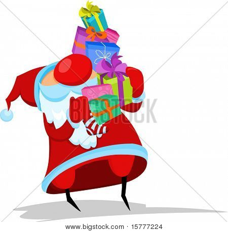 Santa with many gifts  - for additional works of this kind, CLICK ON MY NICKNAME BELOW TO VISIT MY GALLERY