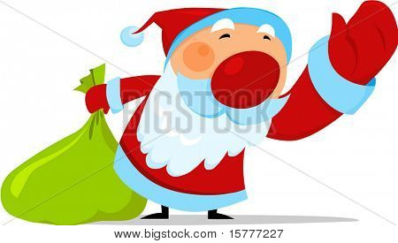 Santa with bag of gifts  - for additional works of this kind, CLICK ON MY NICKNAME BELOW TO VISIT MY GALLERY