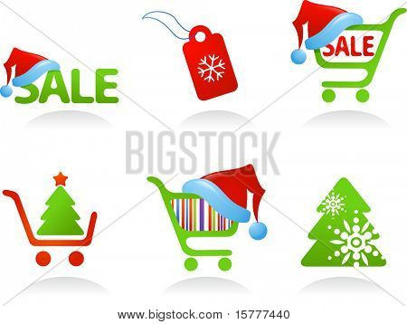 Collection of Christmas Shopping Icons!