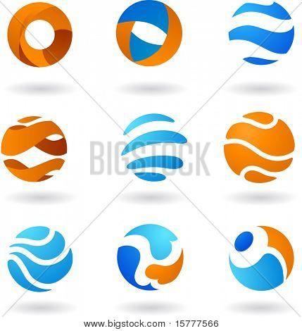Sammlung von abstrakten Icons 3. um ähnliche einzusehen, besuchen Sie bitte meine Galerie