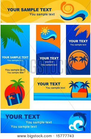 template of tourism banners
